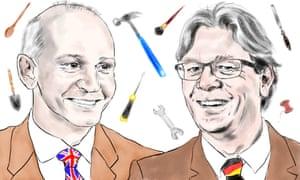 Quintin McKellar, vice-chancellor of the University of Hertfordshire, and Ed Brinksma, president of Hamburg University of Technology.