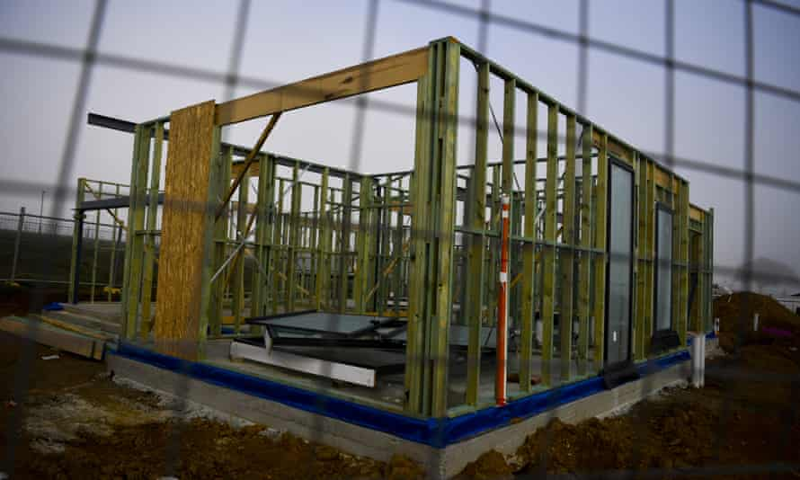 Timber framing on a construction site in Canberra