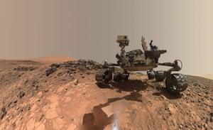 Nasa's Curiosity rover on Mars.