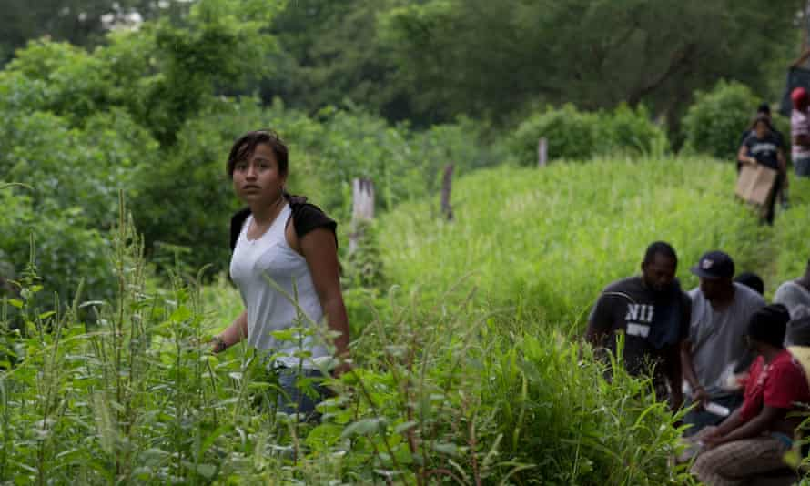 In 2014, a Guatemalan migrant, Gladys Chinoy, 14, waited after a freight train suffered a minor derailment, leaving her stranded for more than 12 hours in a remote wooded area in Mexico.