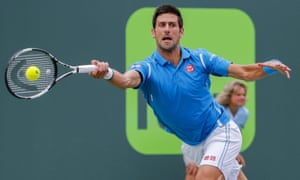 World No1 Novak Djokovic in action during the Miami Open final.
