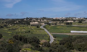 The road on which Daphne Caruana Galizia was driving when her car exploded.