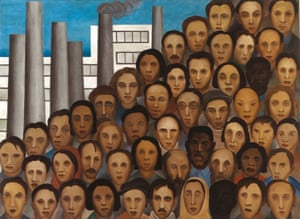 'I feel myself ever more Brazilian' … Workers, a 1933 painting by Tarsila do Amaral, whose work featured in the 1944 show.