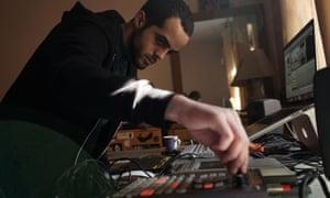 Muqata'a at work, in a still from the film Palestine Underground.