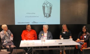 Guardian Children's books editor Julia Eccleshare leads a discussion and Q&A with the panel at the Guardian Education Centre Reading for Pleasure conference 28 March 2019