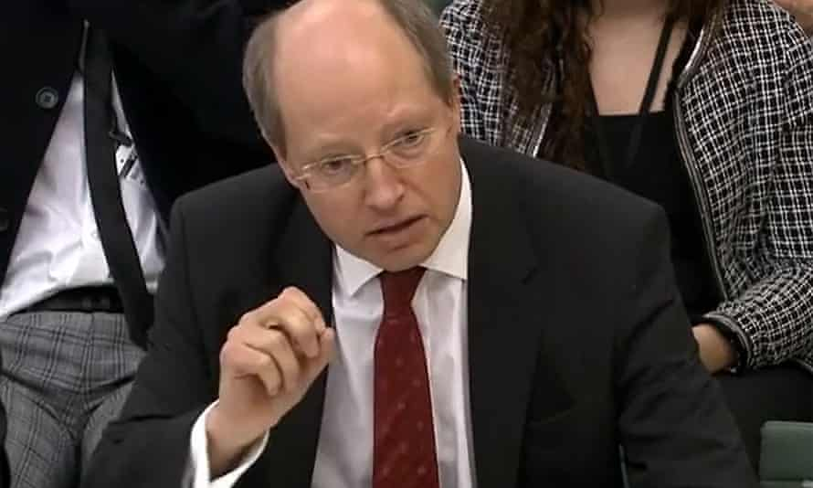 Sir Philip Rutman, the former permanent secretary at the Home Office, speaking before the home affairs committee in parliament in February.