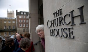 Clergy enter Church house in London
