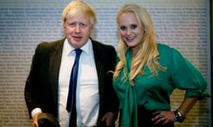 Boris Johnson and Jennifer Arcuri in 2014. He denies giving her business access to public funds.