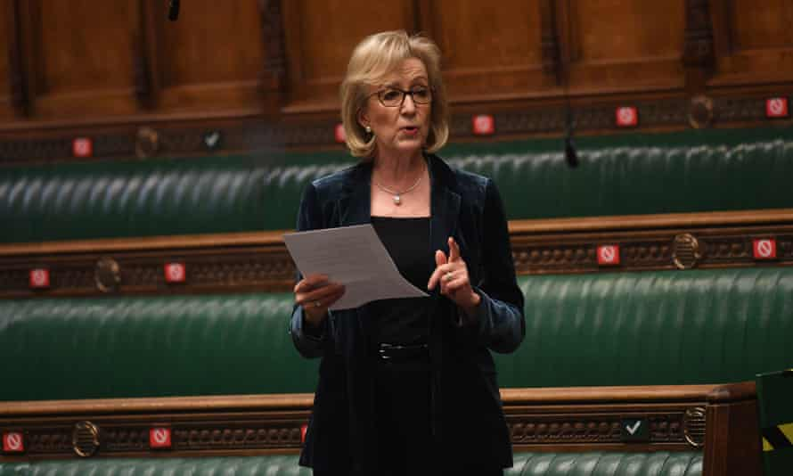 Andrea Leadsom in the House of Commons, London, March 2021