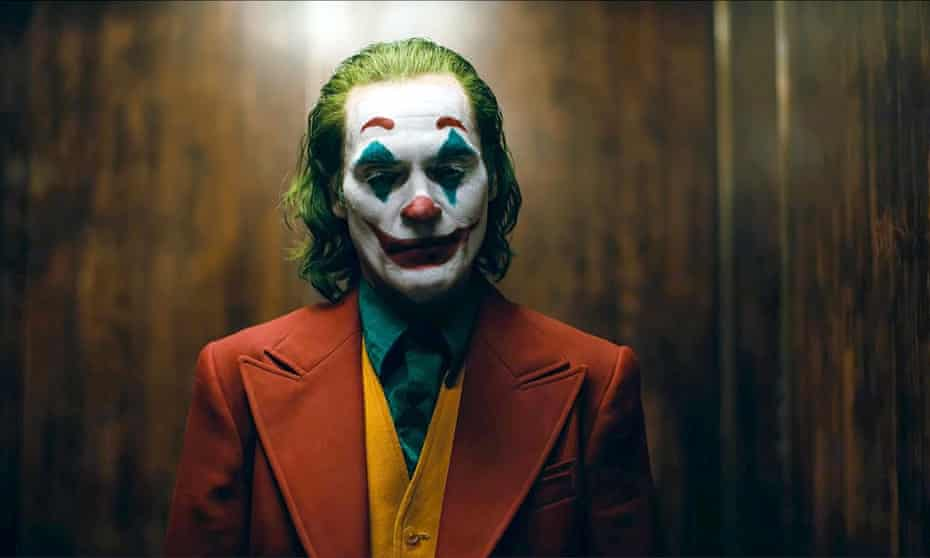 Joaquin Phoenix as the Joker in Todd Phillips's film of the same name.