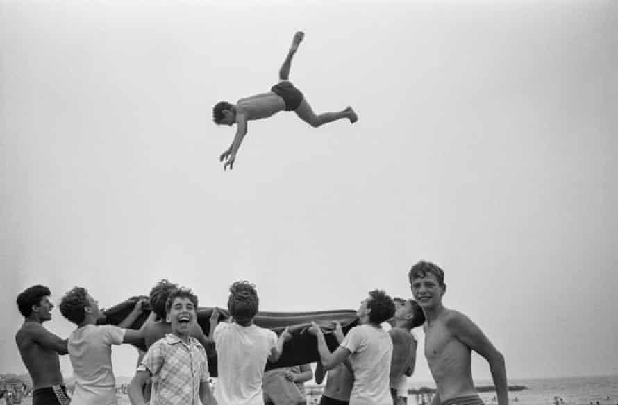Blanket Toss, Coney Island, 1955