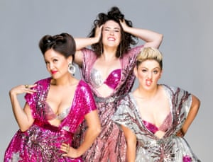 Victoria Falconer-Pritchard, Tessa Waters and Rowena Hutson of the Fringe Wives Club