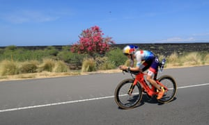 Lucy Charles tackles the 112 mile bike ride at the Ironman World Championship in Hawaii