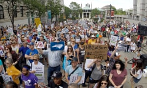 Protesters rally against HB2 in Raleigh, North Carolina in April.