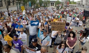 Many people have demonstrated against HB2 in North Carolina.
