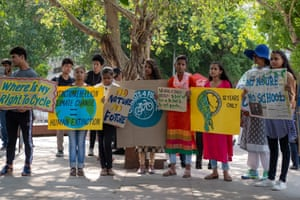 Students in New Delhi.