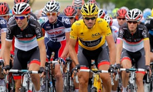 Glory days: Fabian Cancellara in yellow during stage six of the 2012 Tour de France.