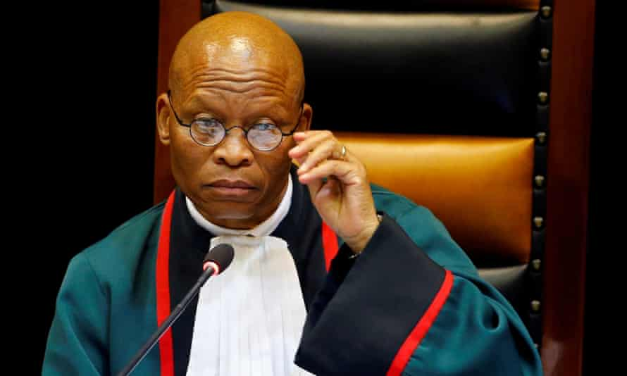 Chief Justice Mogoeng speaks in parliament