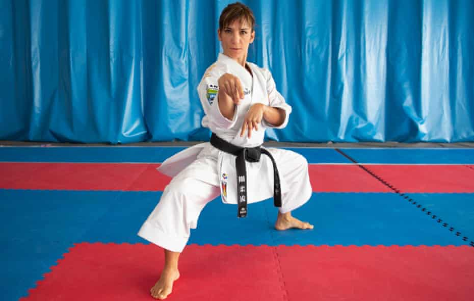 Spanish world champion in karate kata Sandra Sanchez will hope to reach Thursday's final