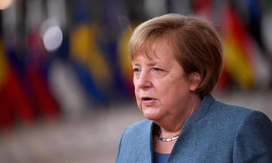 German chancellor Angela Merkel in Brussels