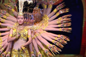 Beijing, China: Dancers perform during the opening ceremony of the Beijing international film festival