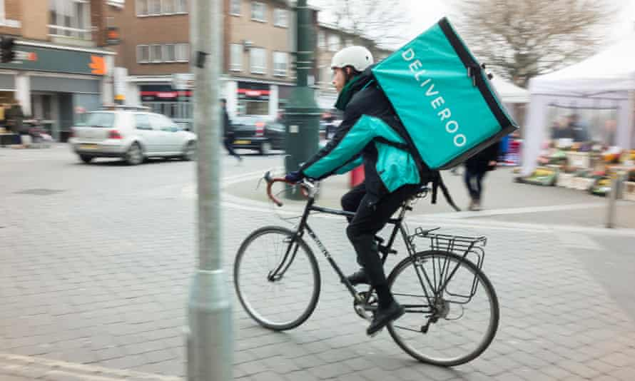 Deliveroo  couriers