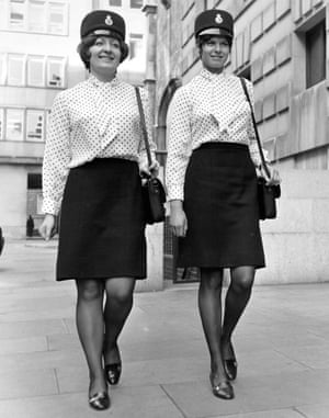 Women in spotted shirts