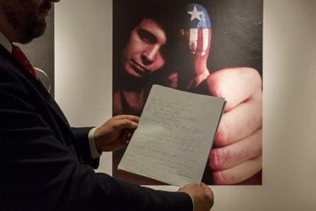 Under the hammer … the original handwritten manuscript of American Pie's lyrics went for $1.2m.