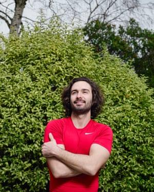 Body coach Joe Wicks, photographed in his garden in Surrey.