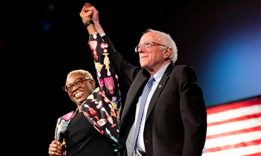 Turner with Sanders in Rochester, New Hampshire, in February 2020.