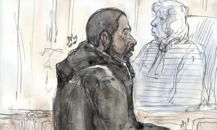 A court sketch of Peter Cherif in 2011