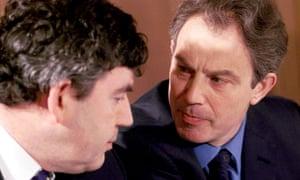 Prime Minister Tony Blair with Chancellor Gordon Brown in April 2001.