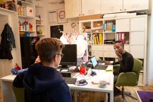Faris in an office in Vienna
