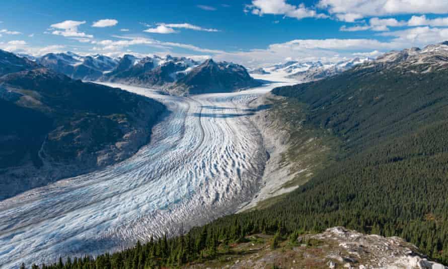 The Klinaklini glacier in British Columbia.