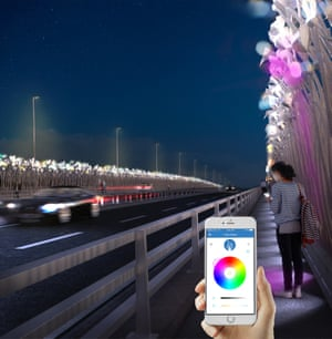 An artist's impression of the reeds installation on the Foyle Bridge.