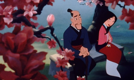 In Mulan, the dragon got more lines than the heroine.