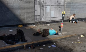 """They don't care about nobody but themselves,"" one homeless person told the Guardian. ""If you got money, you just want to grab anything you can get."""