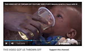 A screenshot of a video the group has posted which shows a child in Uganda being given a cup of the 'miracle cure'.