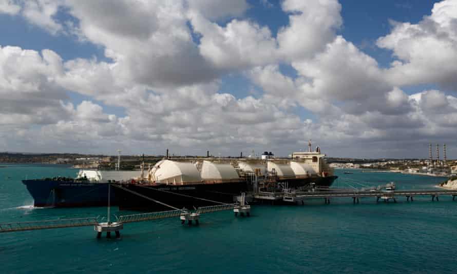 The Armada LNG Mediterrana at Delimara power station in Malta.