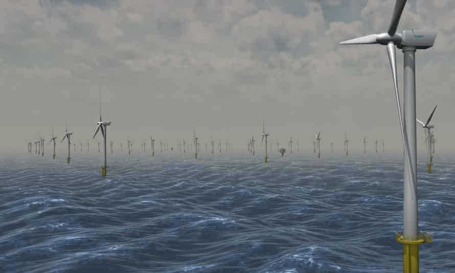 Artist's impression of the windfarm at Dogger Bank in the North Sea