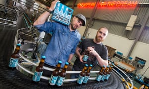 James Watt, left, and Martin Dickie, co-founders of Scottish craft brewery BrewDog.
