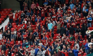 Bournemouth fans during game against Manchester United
