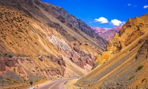 The road from Mendoza in Argentina to Chile.