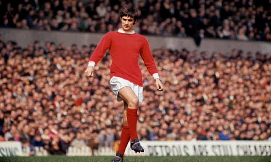 The footballer on the pitch for Manchester United in 1968.