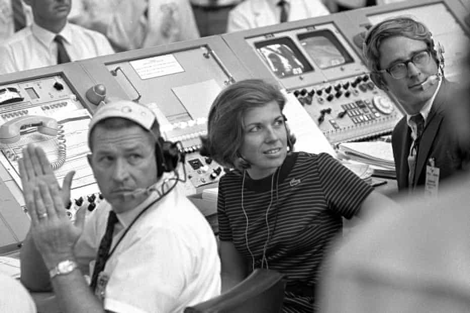 JoAnn Morgan watches from the launch firing room during the launch of Apollo 11 in Cape Canaveral. 'I was there. I wasn't going anywhere. I had a real passion for it.'