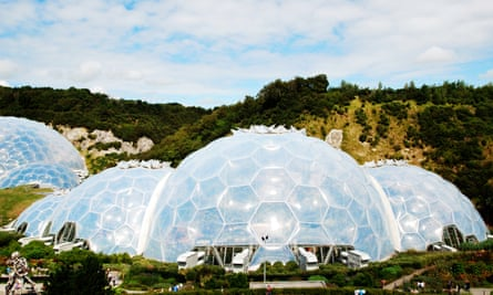 The biomes at the Eden Project near St Austell in Cornwall, UK.