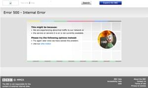 BBC website error page