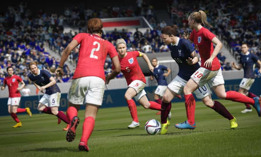 France versus England women's final. Fifa's visual authenticity is as impressive as ever