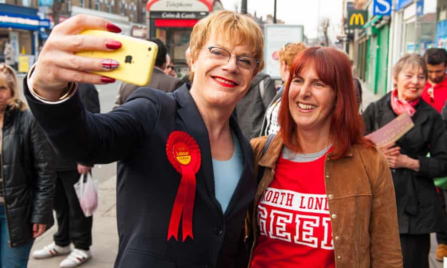 Campaigning for Labour during the general election in 2015.
