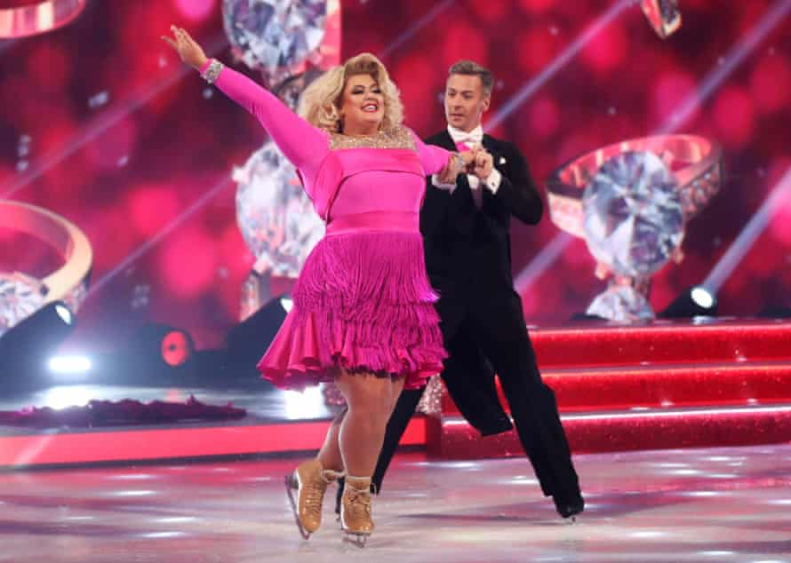 Gemma Collins and Matt Evers on Dancing on Ice in 2019